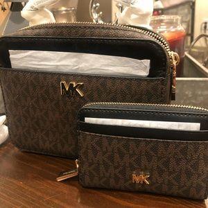 Michael Kors Cross Body Bag + Mini Wallet